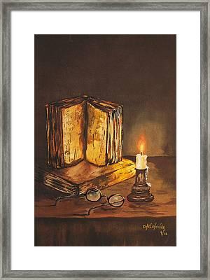 Reading Table Framed Print