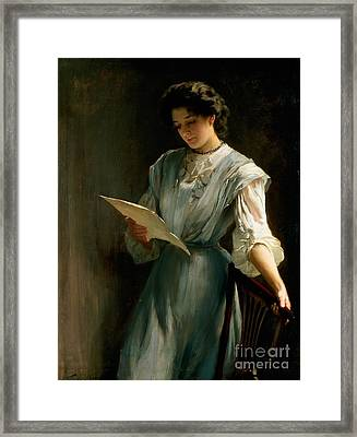 Reading The Letter  Framed Print