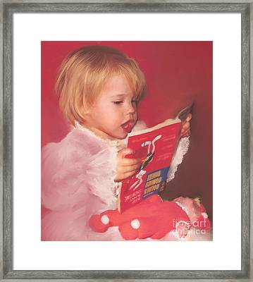 Reading To Her Baby Framed Print by McKenzie Leopold