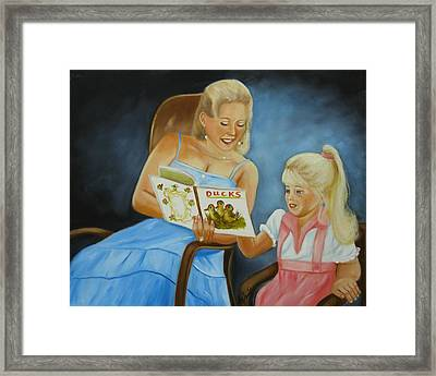 Reading With Gramma Framed Print by Joni McPherson