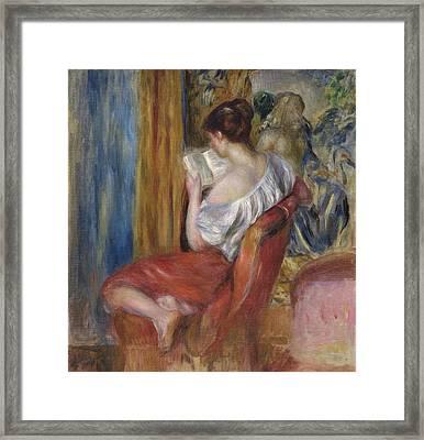 Reading Woman  1900 Framed Print by Pierre Auguste Renoir