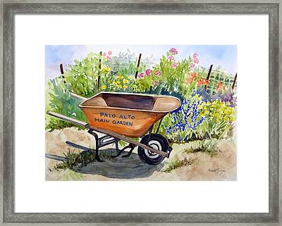 Ready At The Main Garden Framed Print