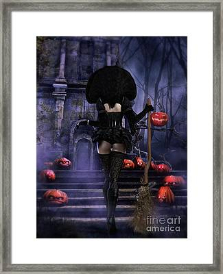 Ready Boys Halloween Witch Framed Print by Shanina Conway