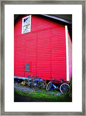 Ready For A Bike Ride Framed Print by Karla DeCamp