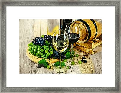 Ready For A Wine Tasting Framed Print by Elaine Plesser