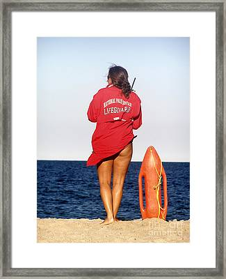Ready For Action Framed Print by Louise Peardon