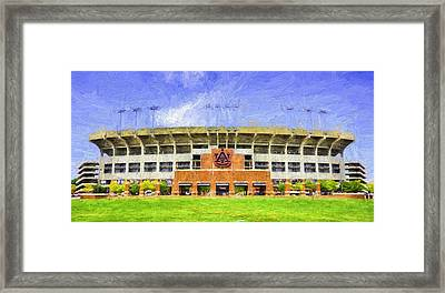 Ready For Gameday At Jordan Hare Framed Print by JC Findley