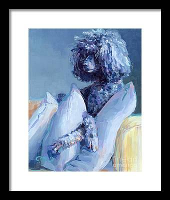 Poodle Paintings Framed Prints
