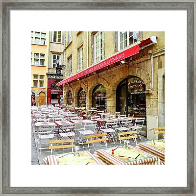 Ready For Lunch In Lyon Framed Print