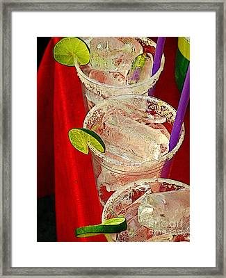 Ready For Margaritas Framed Print by Mexicolors Art Photography