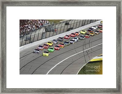 Ready For Race Framed Print by Yumi Johnson