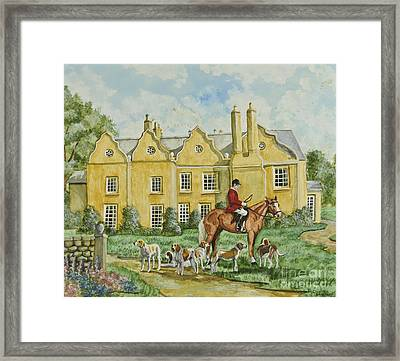 Ready For The Hunt Framed Print by Charlotte Blanchard