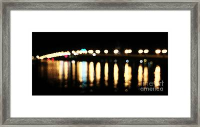 Bridge Of Lions -  Old City Lights Framed Print