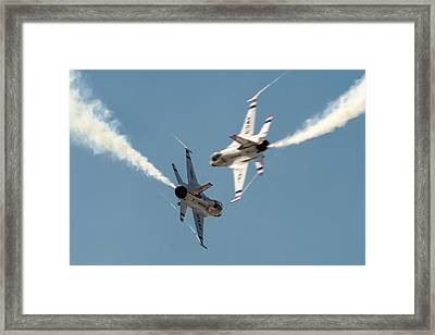 Ready Hit It Framed Print