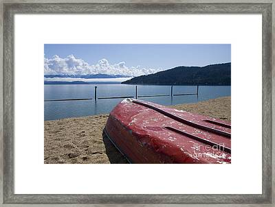 Ready In Red Framed Print