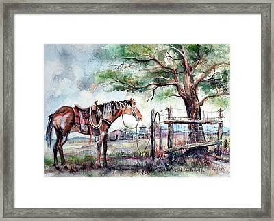Framed Print featuring the painting Ready by Linda Shackelford