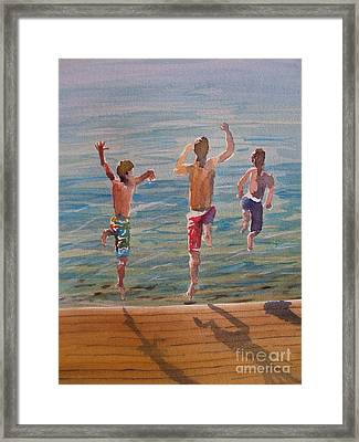 Framed Print featuring the painting Ready Set Go by Sandra Strohschein