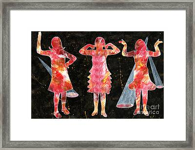 Besties - Ready To Dance Framed Print by Lori Kingston