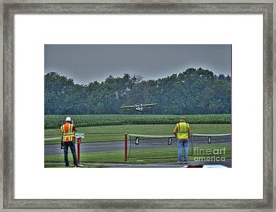 Ready To Fly A Touch-and-go Framed Print by David Bearden
