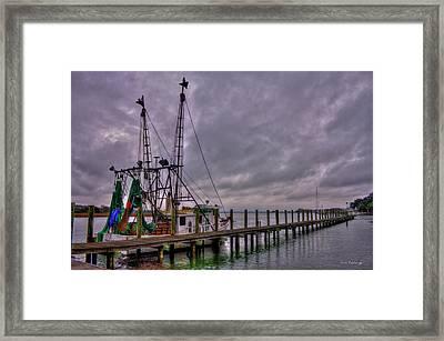 Ready To Go Savannah Shrimp Boat Art Framed Print by Reid Callaway