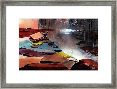 Framed Print featuring the painting Ready To Leave by Anil Nene