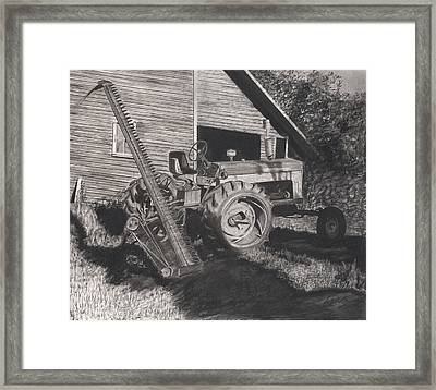 Ready To Mow Framed Print