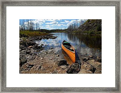 Ready To Paddle Framed Print by Larry Ricker