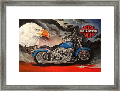 Ready To Ride Framed Print by Robert Stokley