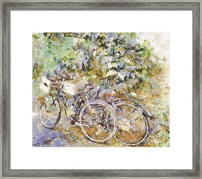 Ready To Ride Framed Print by Shirley Stalter