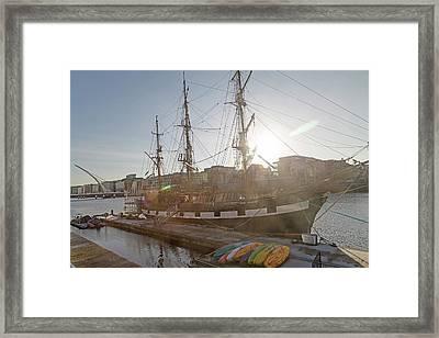 The Famine Ship Framed Print