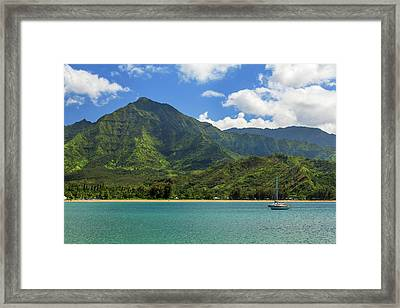 Ready To Sail In Hanalei Bay Framed Print by James Eddy