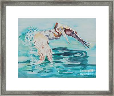 Framed Print featuring the painting Ready To Take Off by Mary Haley-Rocks
