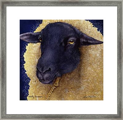 Ready To Wear... Framed Print