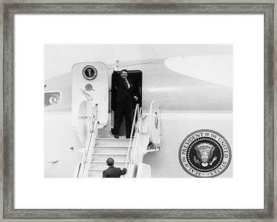 Reagan Presidency. Us President Ronald Framed Print by Everett