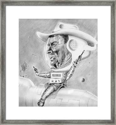 Reagan - Star Wars Framed Print by John Barnard