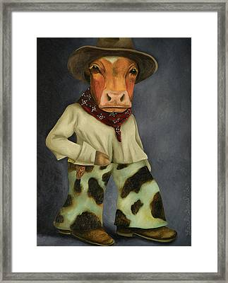 Real Cowboy 2 Framed Print by Leah Saulnier The Painting Maniac