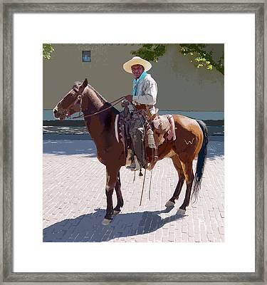 Framed Print featuring the digital art Real Cowboy by John Dyess