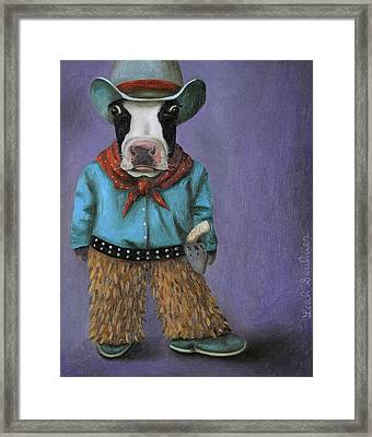 Real Cowboy Framed Print by Leah Saulnier The Painting Maniac