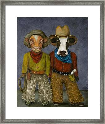 Real Cowboys Framed Print by Leah Saulnier The Painting Maniac