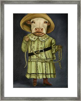 Real Cowgirl 2 Framed Print by Leah Saulnier The Painting Maniac