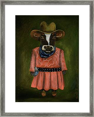 Real Cowgirl Framed Print by Leah Saulnier The Painting Maniac