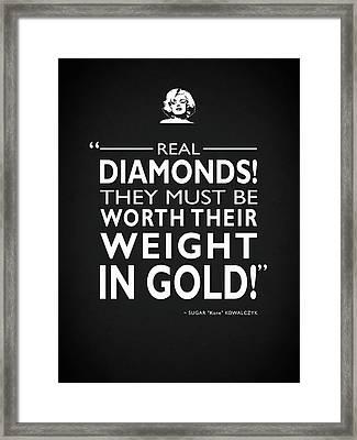 Real Diamonds Framed Print by Mark Rogan