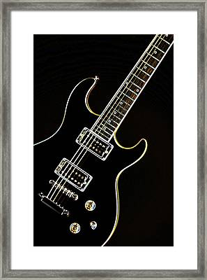 Real Electric Guitar Framed Print by M K  Miller