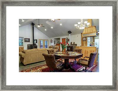 Framed Print featuring the photograph Real Estate Dining Room And Living Room by James Eddy