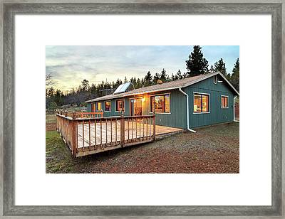 Framed Print featuring the photograph Real Estate House 4 by James Eddy
