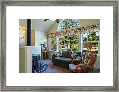 Real Estate Sitting Room Framed Print