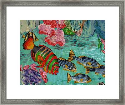Real Fish Do Not Need Maps Framed Print by Anne-Elizabeth Whiteway