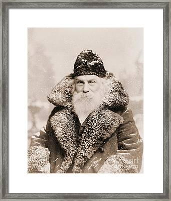 Real Life Santa Claus Framed Print by American School