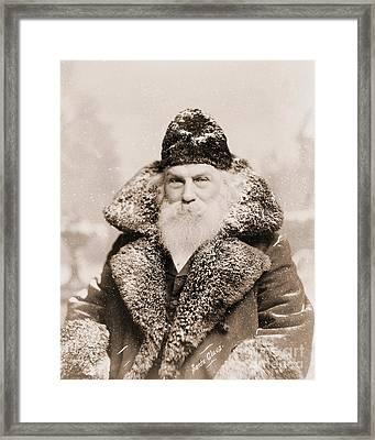 Real Life Santa Claus Framed Print