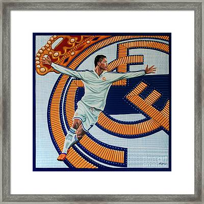 Real Madrid Painting Framed Print